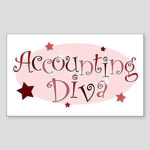 """Accounting Diva"" [red] Rectangle Sticker"