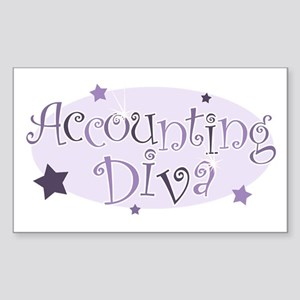 Accounting Diva [purple] Rectangle Sticker