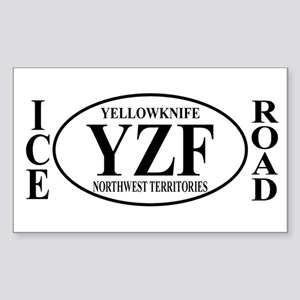 Yellowknife Ice Road Rectangle Sticker