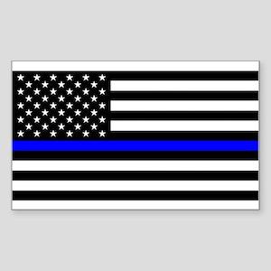 dd1804376 Police: Black Flag & The Thin Blue Line Sticker