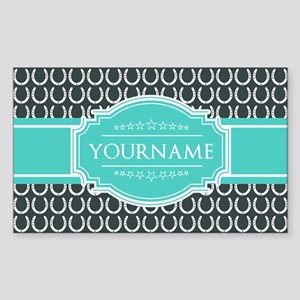 Personalized Horseshoes Patter Sticker (Rectangle)