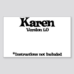 Karen - Version 1.0 Rectangle Sticker