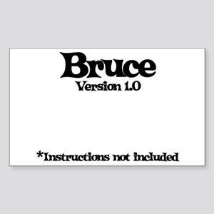 Bruce - Version 1.0 Rectangle Sticker