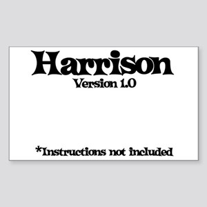 Harrison - Version 1.0 Rectangle Sticker