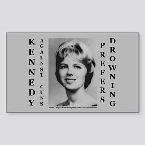 Kennedy Against Guns Rectangle Sticker