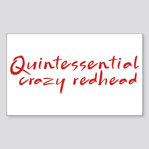 Crazy Redhead Rectangle Sticker