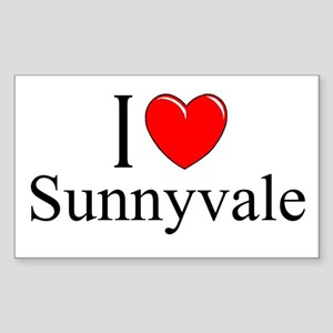"""I Love Sunnyvale"" Rectangle Sticker"