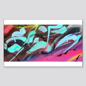 Hyper Abstract painting Sticker