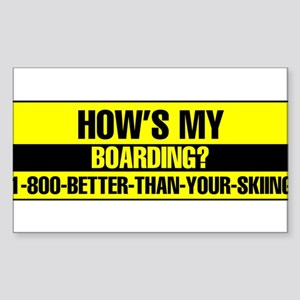 1-800-BETTER-THAN-YOUR-SKIING Sticker