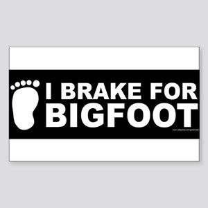 I Brake For Bigfoot (Black) Sticker