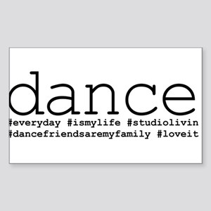 dance hashtags Sticker (Rectangle)