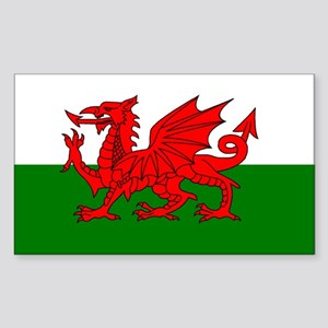 Wales Rectangle Sticker
