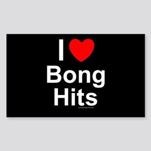 Bong Hits Sticker (Rectangle)