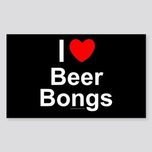 Beer Bongs Sticker (Rectangle)