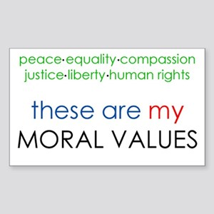 Moral Stickers - CafePress