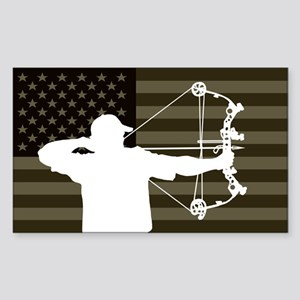 Bow Hunter (subdued flag version) Sticker