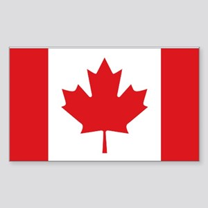 Canada National Flag Sticker (Rectangle)