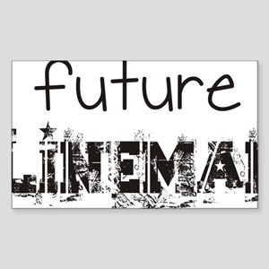 future lineman black Sticker (Rectangle)