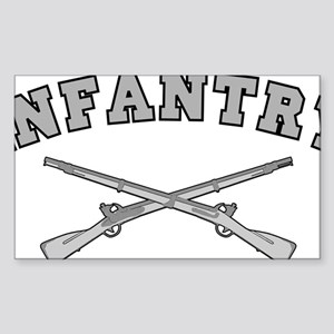 ARMY INFANTRY CROSSED RIFLES Sticker (Rectangle)