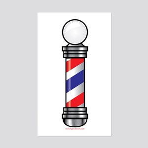 Barber Pole Sticker (Rectangle)
