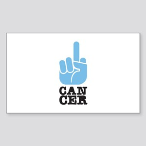 Flip Off Cancer Rectangle Sticker