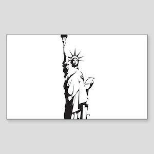 Statue of Liberty Sticker (Rectangle)
