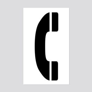 Phone Symbol Rectangle Sticker