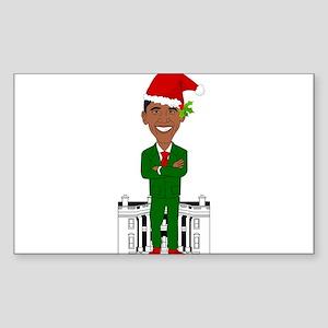 barack obama santa claus Sticker