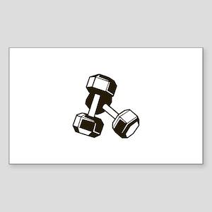 Fitness Dumbbells Sticker