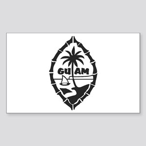 Guam Seal Sticker (Rectangle)