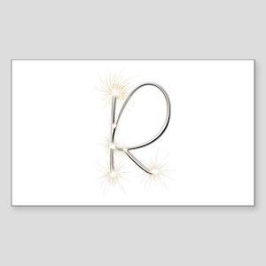 R Spark Rectangle Sticker