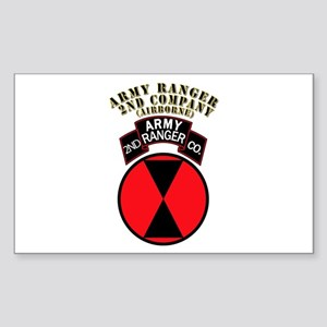 SOF - Army Ranger - 2nd Company Sticker (Rectangle