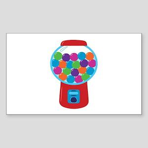 Cute Gumball Machine Sticker (Rectangle)