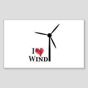 I love wind Sticker (Rectangle)