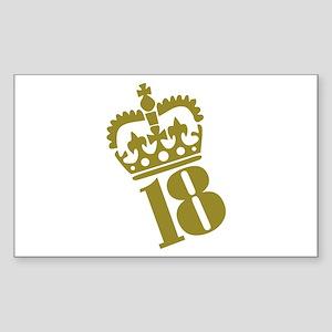 18th Birthday Rectangle Sticker