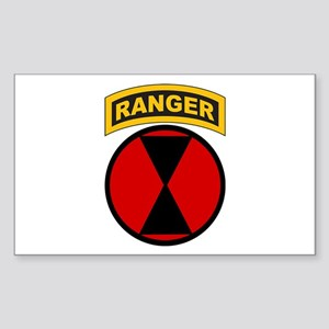 7th Infantry Div with Ranger Rectangle Sticker