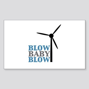 Blow Baby Blow (Wind Energy) Sticker (Rectangle)