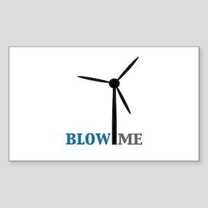 Blow Me (Wind Turbine) Sticker (Rectangle)