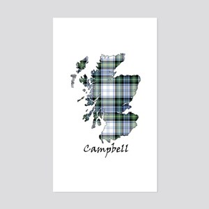 Map-Campbell dress Sticker (Rectangle)
