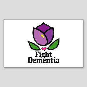 Alzheimers Fight Dementia Sticker (rectangle)