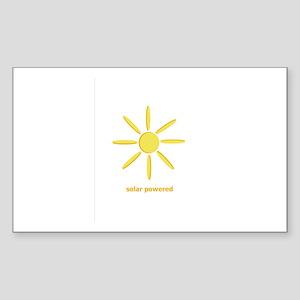 Solar Powered Rectangle Sticker