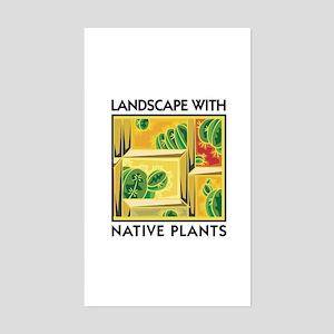 Landscape with Native Plants Rectangle Sticker