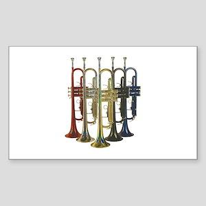 Trumpets Multi Rectangle Sticker