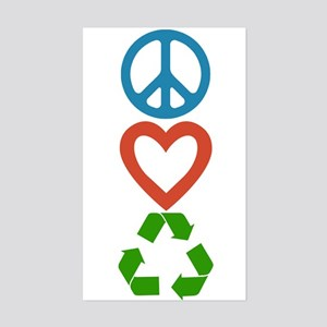 Peace Love Recycle - Small Sticker