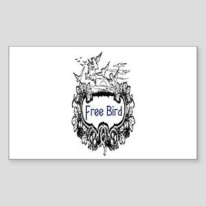 FREE BIRD Sticker (Rectangle)