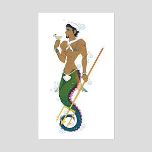 Seahorse Sailor Sticker (Rectangle)