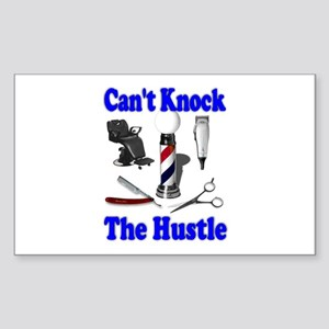 Cant Knock The Hustle-Blue Rectangle Sticker