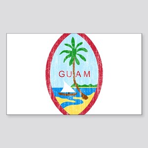 Guam Coat Of Arms Sticker (Rectangle)