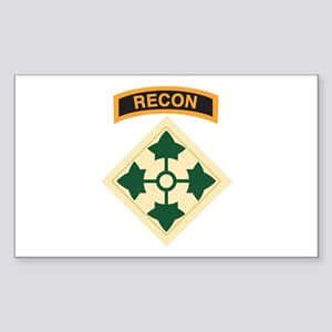 4th Infantry Div with Recon T Rectangle Sticker