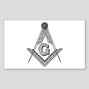 Masonic Symbol Rectangle Sticker